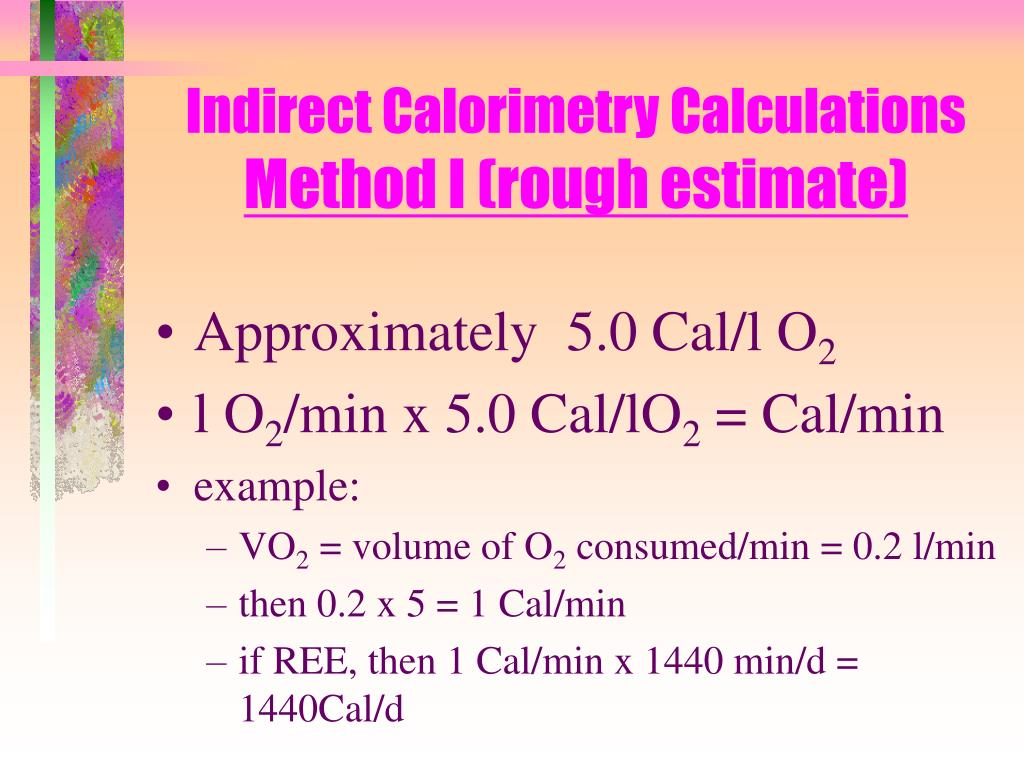 Indirect Calorimetry Calculations