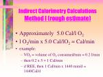 indirect calorimetry calculations method i rough estimate