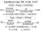 equilibrium law re 14 36 14 37