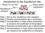introduction to the equilibrium law