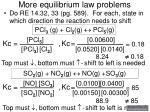more equilibrium law problems