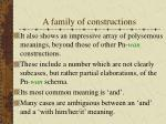 a family of constructions12