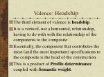 valence h eadship