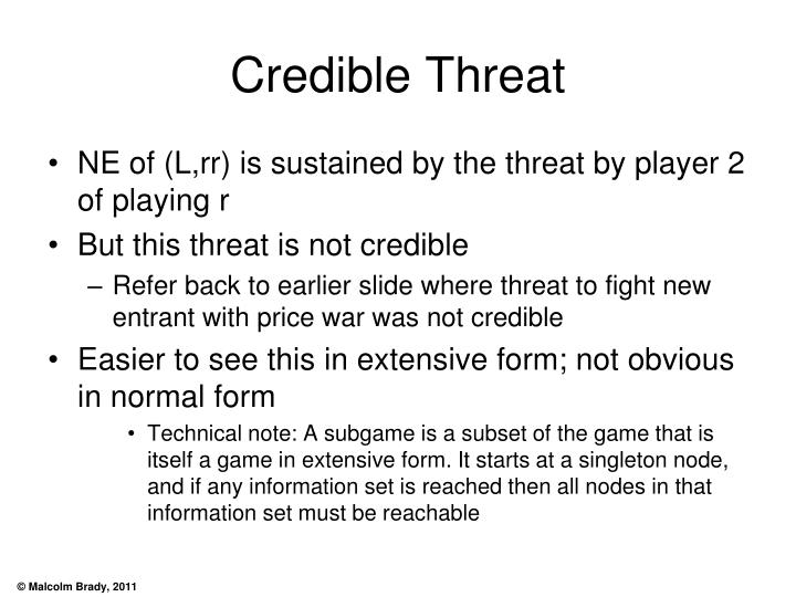 Credible Threat
