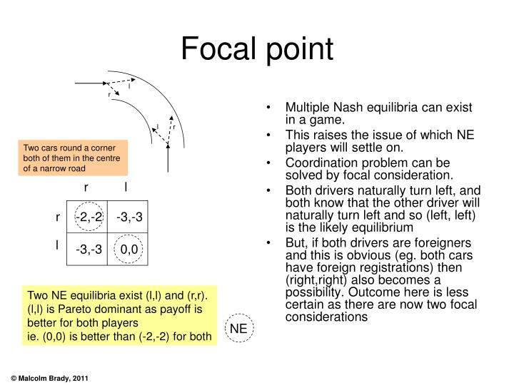 Multiple Nash equilibria can exist in a game.