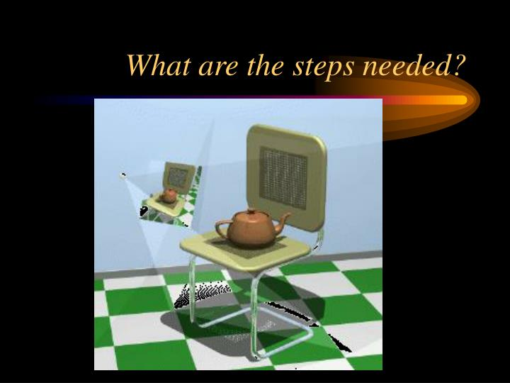 What are the steps needed?