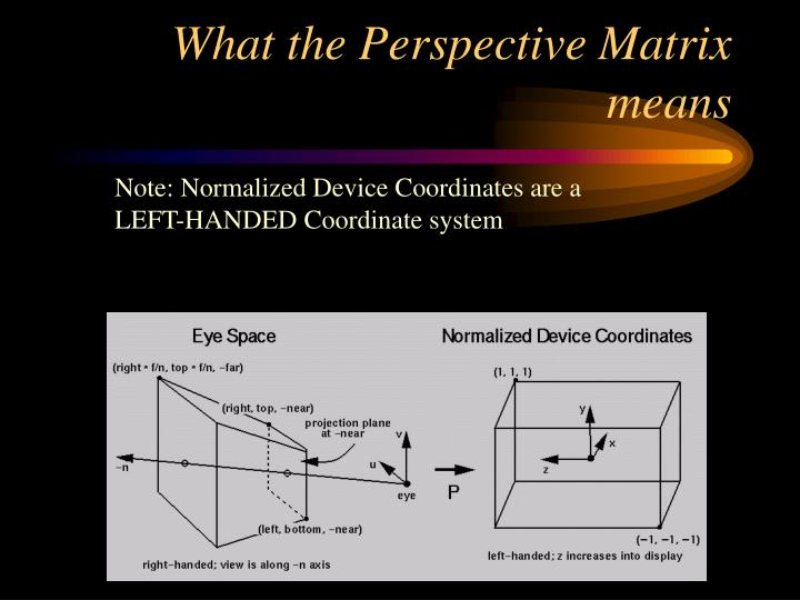 What the Perspective Matrix means