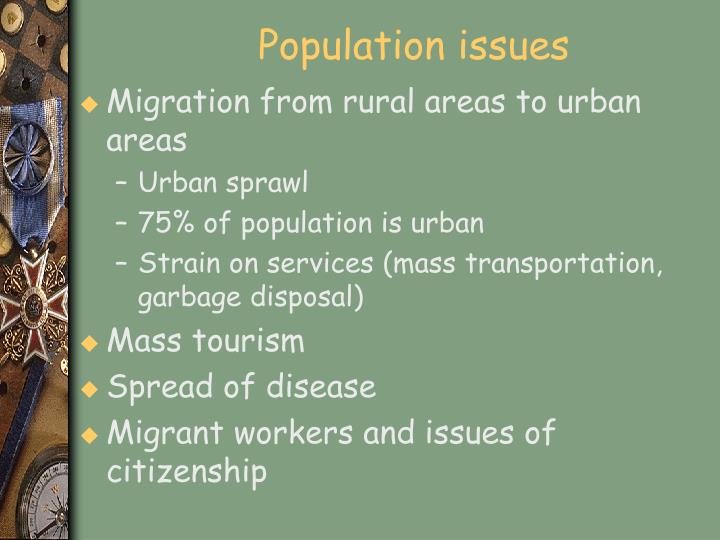 Population issues
