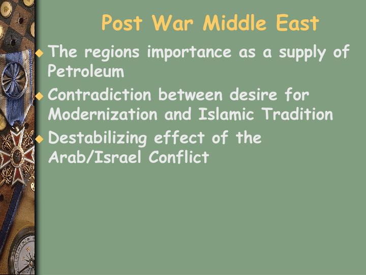 Post War Middle East