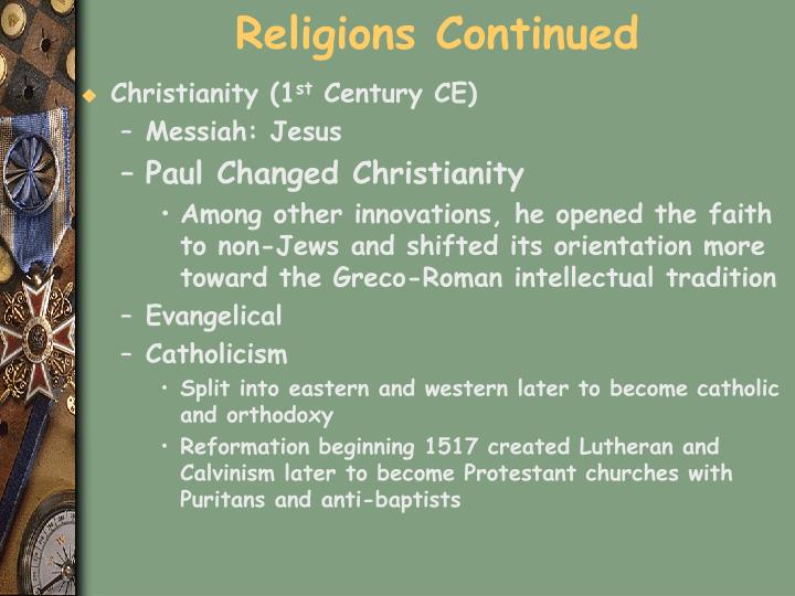 Religions Continued