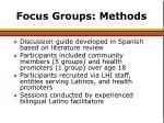 focus groups methods