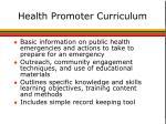 health promoter curriculum
