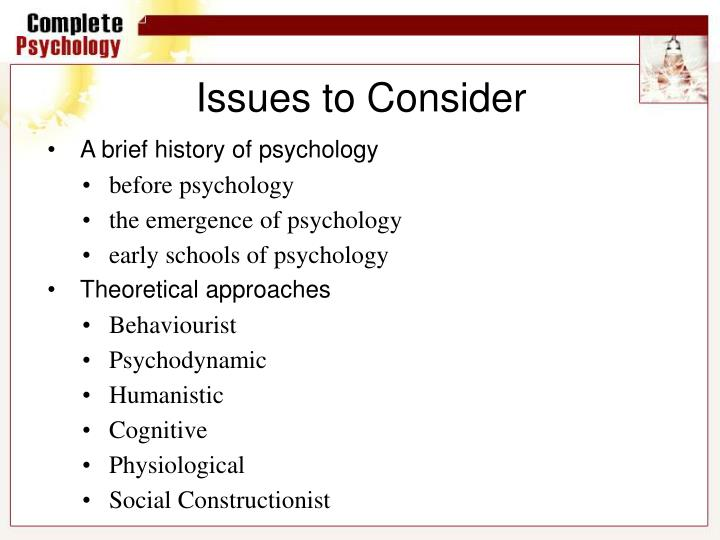 what is a theoretical approach in psychology