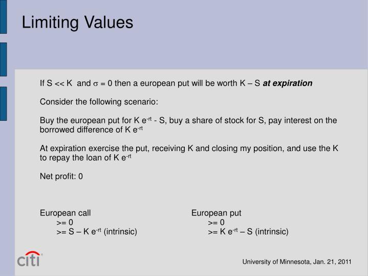 Limiting Values