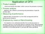 application of dfx
