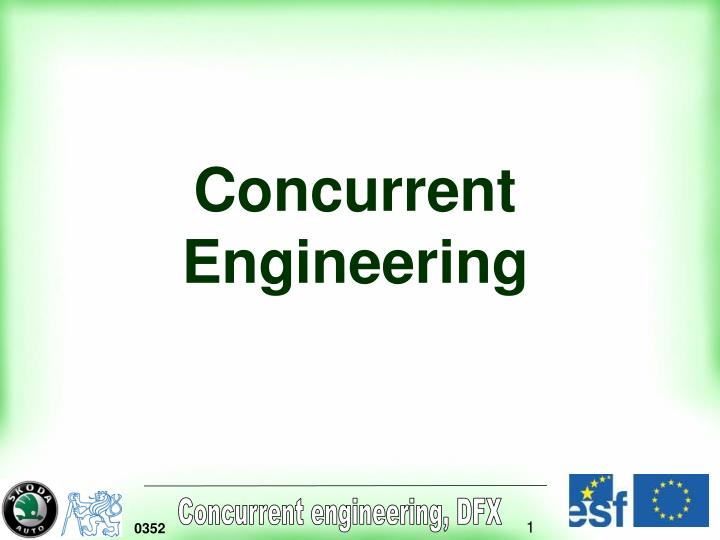 concurrent engineering n.