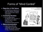 forms of mind control1