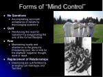 forms of mind control7