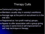 therapy cults