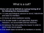 what is a cult