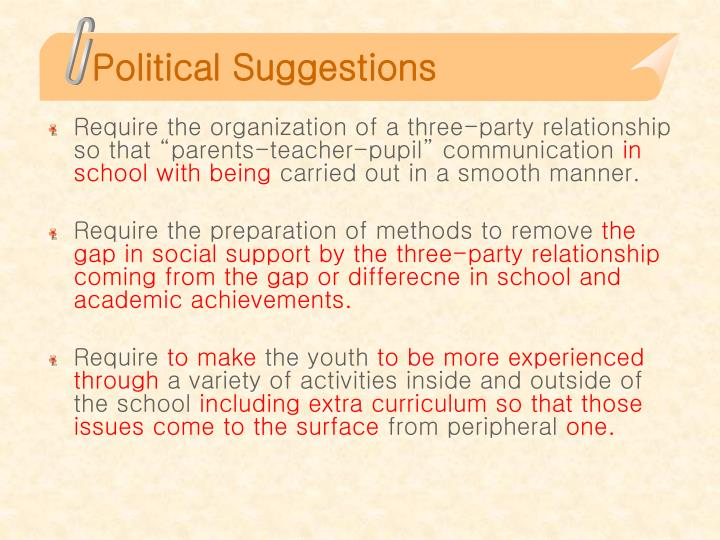 Political Suggestions