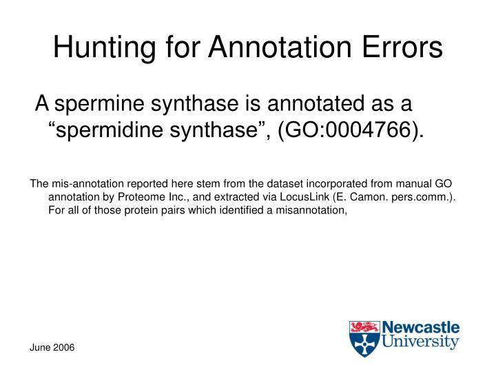 Hunting for Annotation Errors
