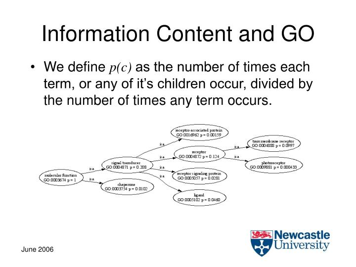 Information Content and GO