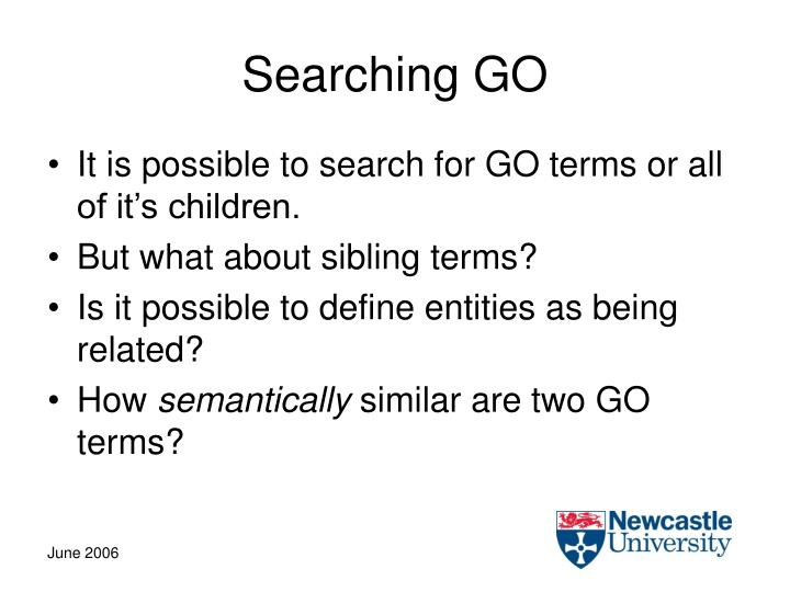 Searching GO