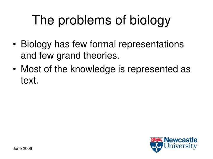 The problems of biology