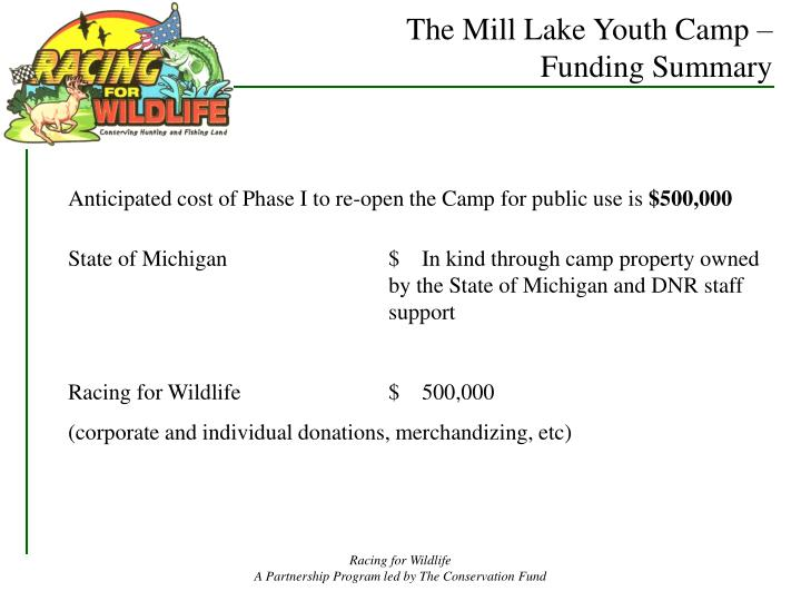 The Mill Lake Youth Camp –