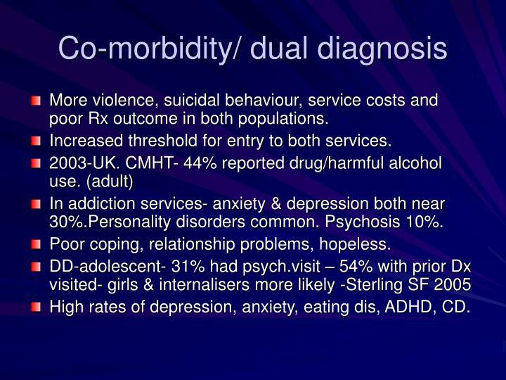 Co-morbidity/ dual diagnosis