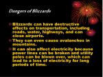 dangers of blizzards