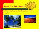 what is a heat wave