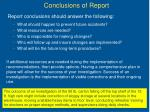 conclusions of report
