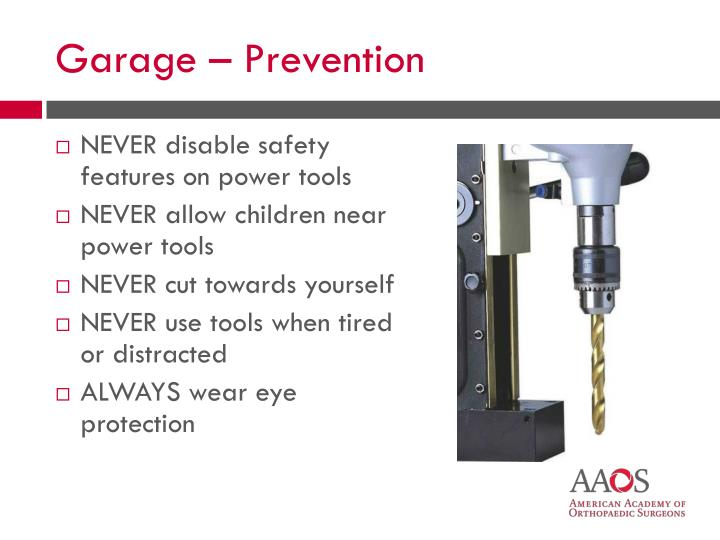 NEVER disable safety features on power tools