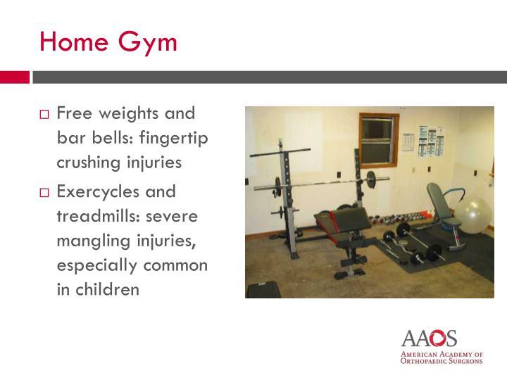 Free weights and bar bells: fingertip crushing injuries
