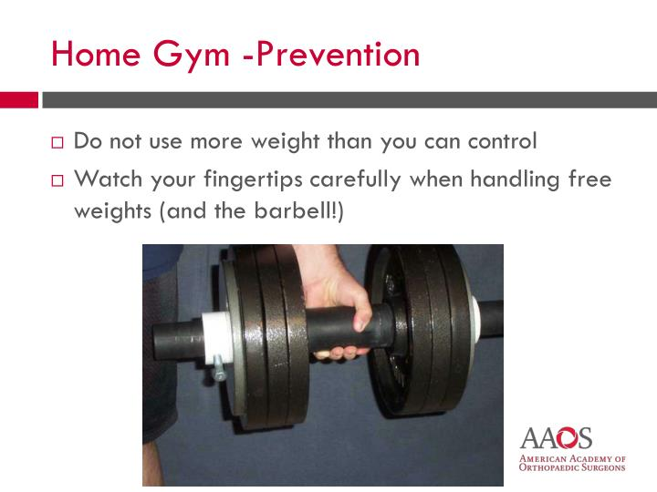 Do not use more weight than you can control