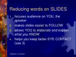 reducing words on slides