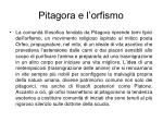 pitagora e l orfismo
