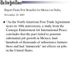 report finds few benefits for mexico in nafta november 19 2003