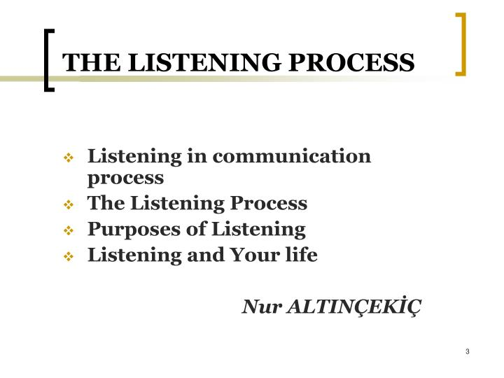 The listening process1
