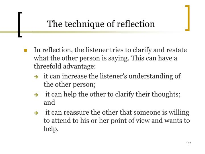 The technique of reflection