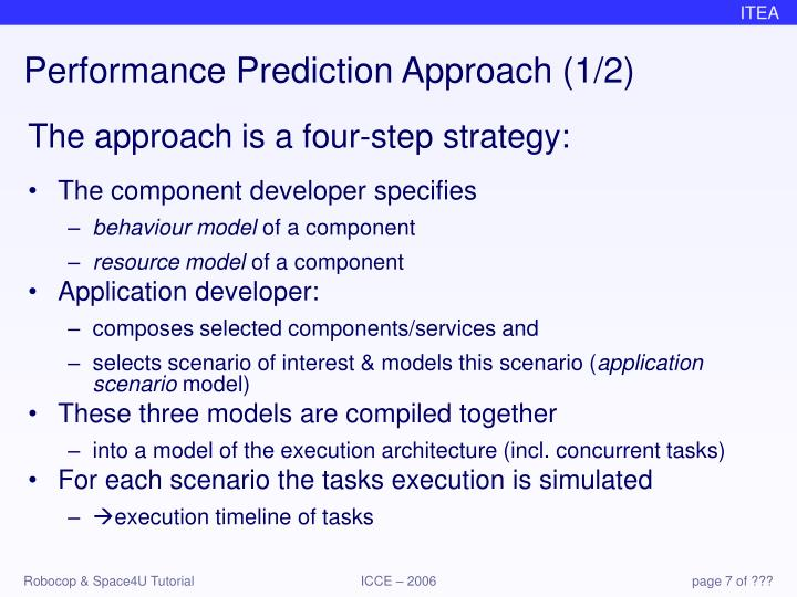 Performance Prediction Approach (1/2)