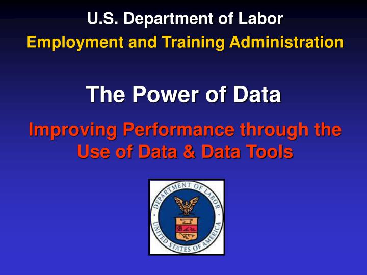 u s department of labor employment and training administration n.