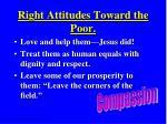right attitudes toward the poor