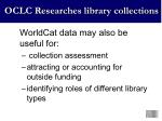 oclc researches library collections4