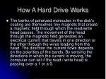 how a hard drive works