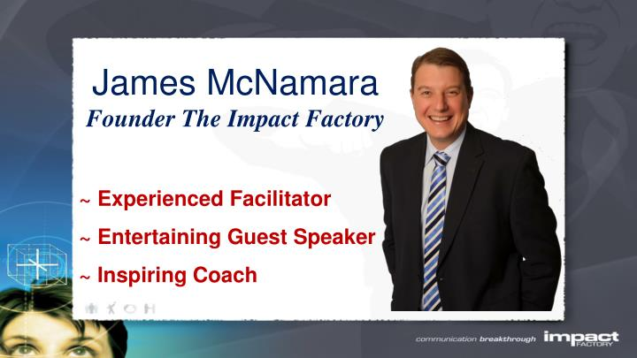 James mcnamara founder the impact factory
