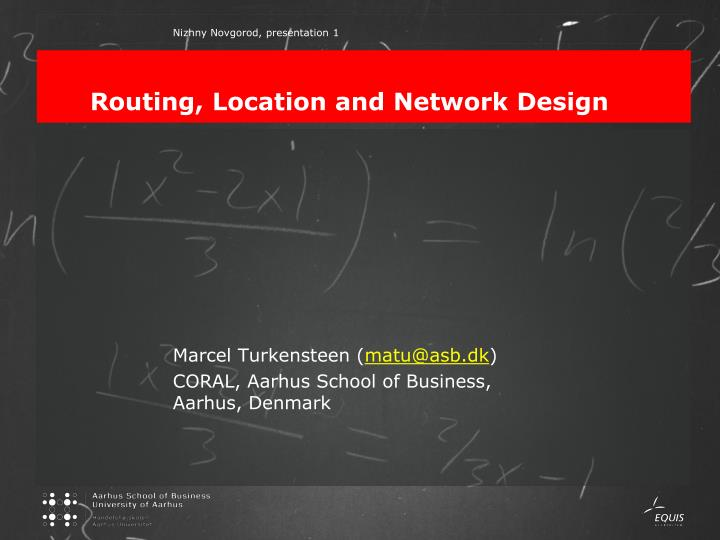 routing location and network design n.