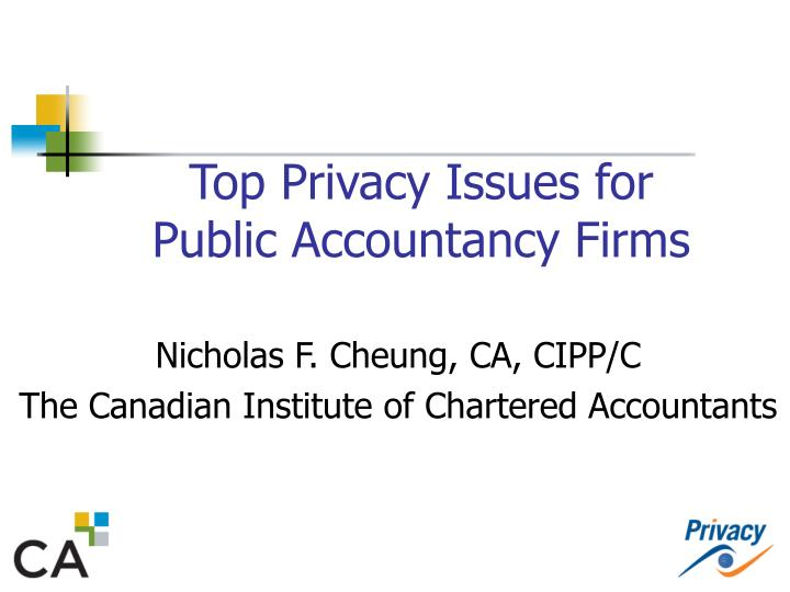 top privacy issues for public accountancy firms n.